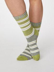 gestreepte bamboe sokken merk Thought