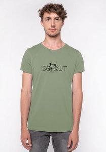 Heren t shirt go out green