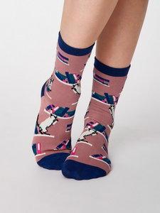 Bamboe sokken Gatto cat pebble grey