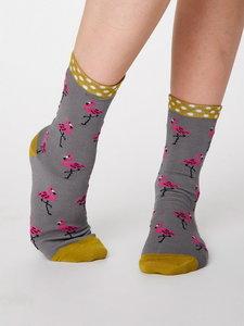 Bamboe sokken Rosa pebble grey