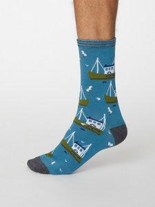 visserij print op bamboe sokken