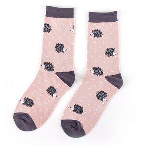 bamboe sokken met egeltjes