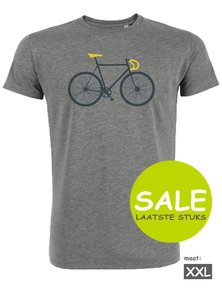 Sale Duurzaam fiets T shirt heather grey maat XXL Bike Two