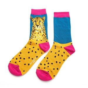 cheetah bamboe dames sokken