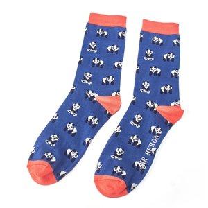 panda-print-heren-sokken-bamboe-blue