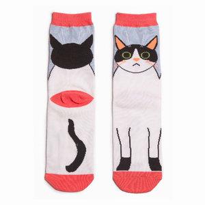 sokken met katten printje