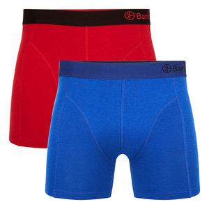 Bamboe Boxershorts Levi 04 (2-pack) -Rood & Blauw