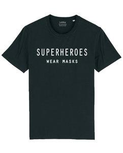 superheroes zwart heren t-shirt