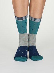 bamboe dames sokken turqoise