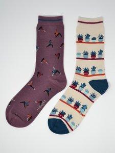 yogi pakket van twee paar bamboe sokken