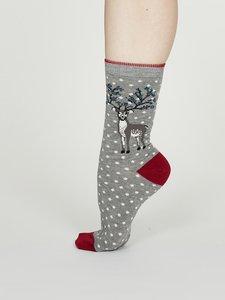 bamboe sokken met kerstprint