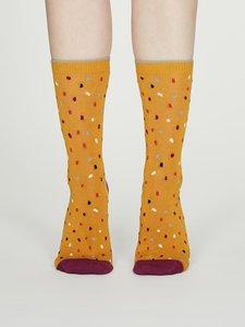 dames sokken mosterd geel