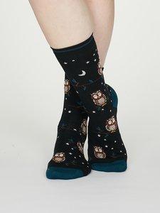 dames sokken uilen print