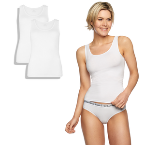 Bamboe topjes wit Anna 2-pack