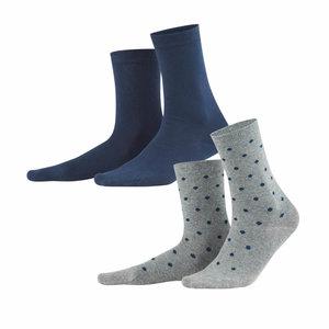 night blue sokken van bio katoen