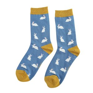 bamboe sokken met konijntjes