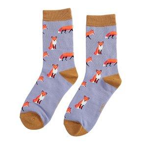 bamboe sokken met vosjes