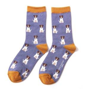 jack russels op bamboe sokken