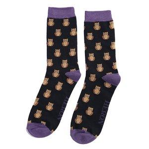 bamboe sokken met uilen