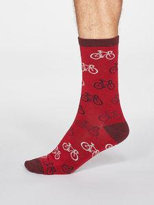 rode bamboe sokken