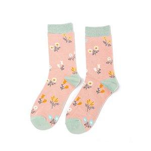 sokken bloemetjes pink