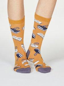sokken met boeken print
