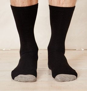 Bamboe zwarte sokken Solid Jack