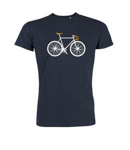 Sale duurzaam fiets T shirt navy