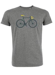 Sale Duurzaam fiets T shirt heather grey maat XXL