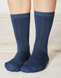 blauwe bamboe sokken