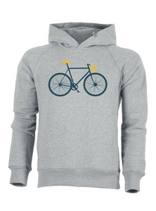 Hoodie met fietsprint