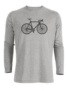 sale Duurzaam longsleeve shirt grijs retro
