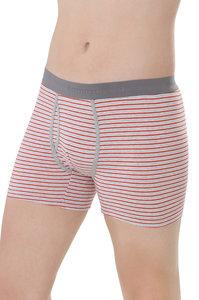 sale Fairtrade boxershort rood grijs gestreept