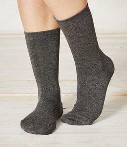 Bamboe donker grijze sokken