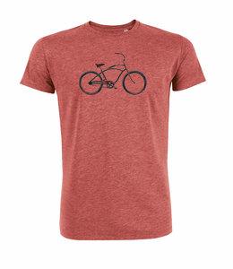 T shirt met fiets print beach cruiser