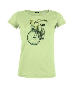 Sale Bio shirt birdie bike groen