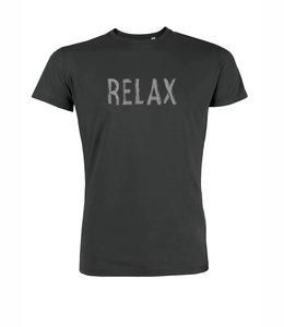 Sale Duurzaam T shirt Relax donker grijs