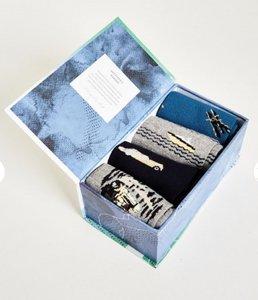 Bamboe set van 4 paar herensokken traveller in cadeau doos