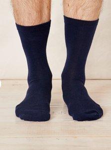 Bamboe navy blauwe sokken
