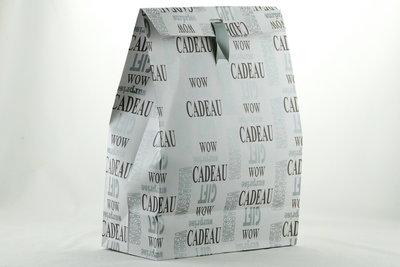 Gift bag groot met opdruk en lint