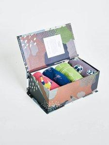 Bamboe 4 paar voetbalsokken in cadeaudoos