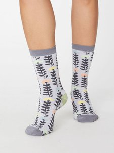 bamboe sokken met bloemenprint