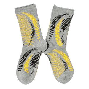 Fancy fern grijze sokken
