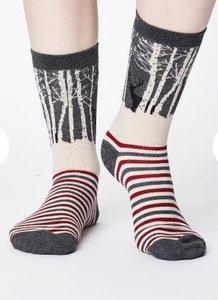 winter wood bamboe sokken