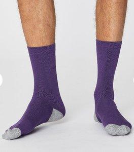 Bamboe paarse sokken Solid Jack