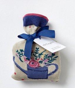 bamboe 1 paar damessokken spotty bouquet in cadeauzakje