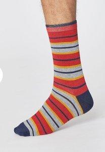 bamboe sokken met streepjes