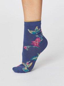 Modal Birdy ocean blue damessokken