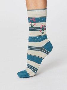 bamboe sokken floral and stipe