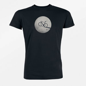 t shirt bike moon black
